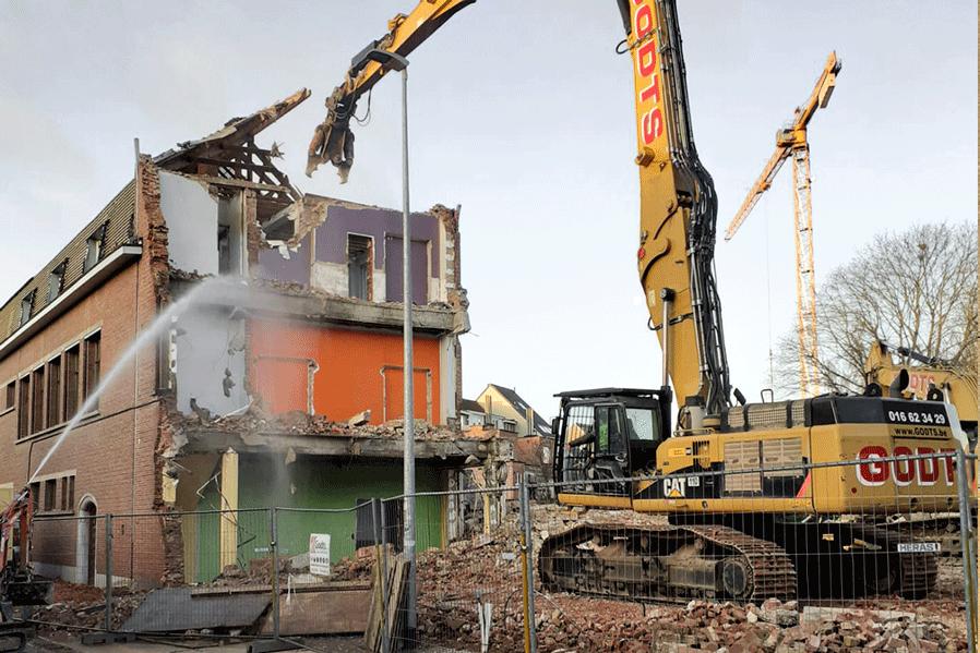 Godts-afbraakwerken gebouw