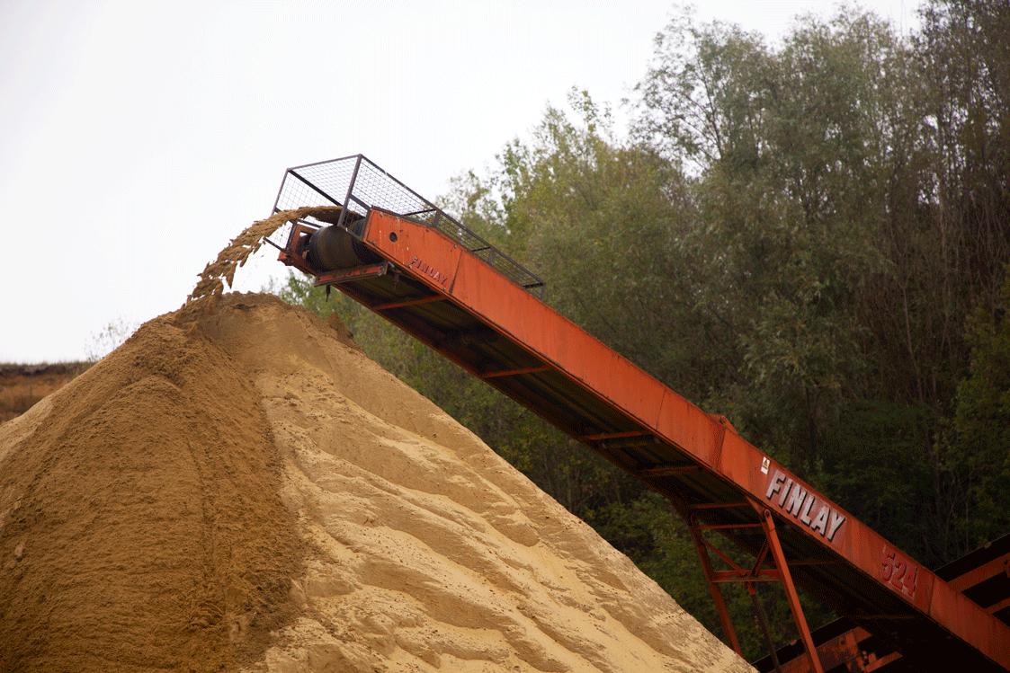 Godts grondwerken zand recyclage