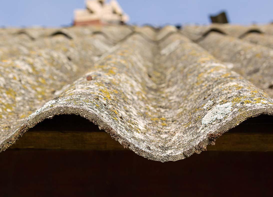 Godts asbest platen