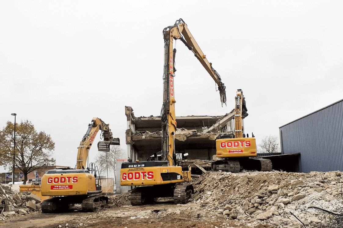 Godts grond-en afbraakwerken bedrijfsgebouw